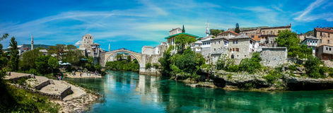 Mostar Old bridge Stock Image
