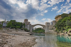 Mostar old bridge Stock Photos