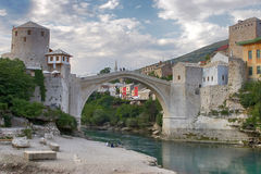 Mostar old bridge Royalty Free Stock Photography
