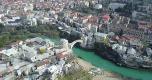 Mostar Old Bridge. Stari Most - Old Bridge is a 16th century Ottoman bridge in the city of Mostar, Bosnia and Herzegovina that crosses the river Neretva and Royalty Free Stock Photos