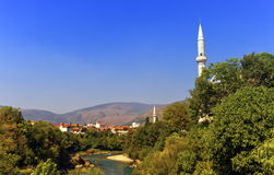 Mostar old city, Bosnia and Herzegovina. View of old city of Mostar by day, Bosnia and Herzegovina stock photo