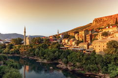 Mostar old city, Bosnia and Herzegovina Stock Images