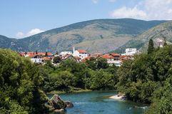 Mostar Old City View, Bosnia And Herzegovina Royalty Free Stock Photography