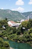 Mostar Old city view, Bosnia and Herzegovina Royalty Free Stock Photos