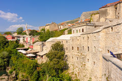 Mostar old town east side Stock Photos