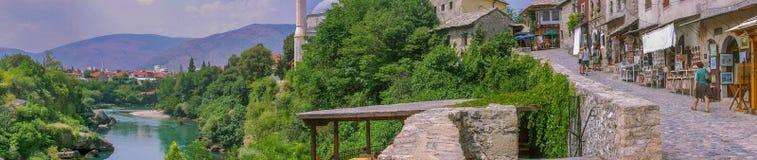 Mostar panoramic Royalty Free Stock Image