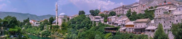 Mostar panoramic Stock Photo
