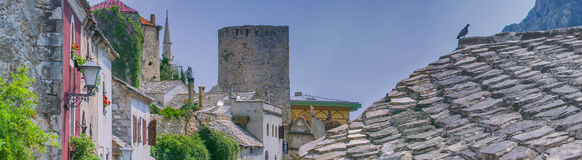 Mostar panoramic Royalty Free Stock Images
