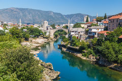 Mostar Skyline during the day Stock Image