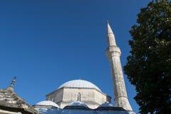 Mostar, skyline, Koski Mehmed Pasha Mosque, minaret, Bosnia and Herzegovina, Europe, islam, religion, place of worship. Bosnia, 5/07/2018: the Koski Mehmed Pasha royalty free stock image