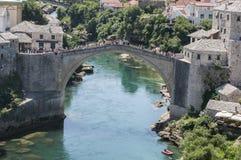 Mostar, Stari más, puente viejo, Bosnia y Herzegovina, Europa, ciudad vieja, calle, arquitectura, caminando, horizonte, bazar imágenes de archivo libres de regalías
