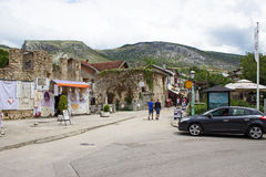 Mostar-Straße Stockfotos