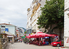 Mostar Street Coffee Bar Royalty Free Stock Images