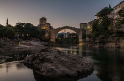 Mostar Sunset IV Royalty Free Stock Photography
