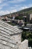 Mostar, tejados, religión, mezquita, rezo, lugar de culto, Bosnia y Herzegovina, Europa, ciudad vieja, Islam, musulmán, horizonte foto de archivo libre de regalías