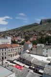 Mostar, tejados, religión, mezquita, rezo, lugar de culto, Bosnia y Herzegovina, Europa, ciudad vieja, Islam, musulmán, horizonte imagen de archivo libre de regalías