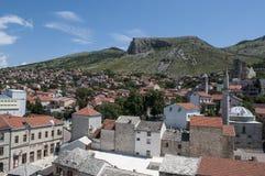 Mostar, tejados, religión, mezquita, rezo, lugar de culto, Bosnia y Herzegovina, Europa, ciudad vieja, Islam, musulmán, horizonte fotos de archivo libres de regalías
