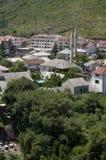 Mostar, tejados, religión, mezquita, rezo, lugar de culto, Bosnia y Herzegovina, Europa, ciudad vieja, Islam, musulmán, horizonte foto de archivo