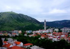 Mostar View Stock Photography