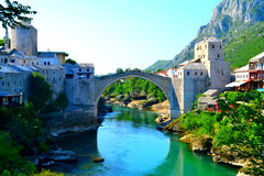 Mostarbrug royalty-vrije stock afbeelding