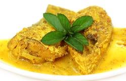 Mostarda Ilish: Um cusine bengali muito popular dos hilsa pesca fotografia de stock royalty free