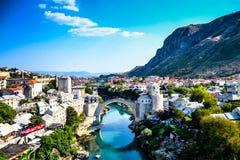 Mostars överbryggar Royaltyfria Foton