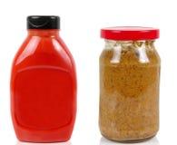Mostaza y salsa Fotografía de archivo
