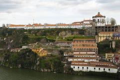 Mosteiro da Serra gör Pilar, Porto, Portugal Arkivbild