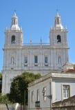 Mosteiro de Sao Vicente de Fora in Alfama distric, Lisbon. Beautiful facade of Monastery of San Vincent with its two tipical belfry Royalty Free Stock Photos