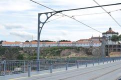 Mosteiro a Dinamarca Serra faz fios e a estrutura Pilar, Railway dos DOM LuÃs que eu construo uma ponte sobre em Porto, Portugal Foto de Stock