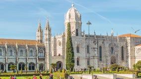 Mosteiro dos Jeronimos,位于里斯本贝拉母区,葡萄牙 股票视频