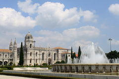 Mosteiro dos Jeronimos. In Lisbon, Portugal royalty free stock image