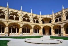 Mosteiro dos Jeronimos courtuyard, Lisbon royalty free stock photos