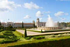 Mosteiro DOS Jeronimos i Lissabon, Portugal arkivbilder