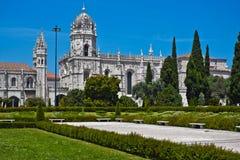 Mosteiro DOS Jeronimos, Lisbon, Portu Royaltyfri Fotografi