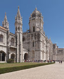 Mosteiro dos Jeronimos, old monastery in Lisbon. Mosteiro dos Jeronimos, old monastery in Belem; Lisbon, Portugal stock photography