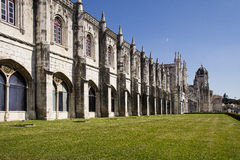 Mosteirodos Jeronimos Lissabon Portugal Royalty-vrije Stock Foto