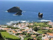 Mosteiros和海堆,圣地米格尔,亚速尔群岛 库存照片