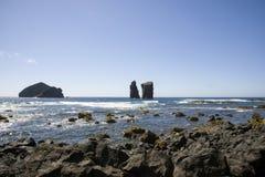 Mosteiros северная оконечность Sao Мигель, Азорских островов стоковое изображение rf
