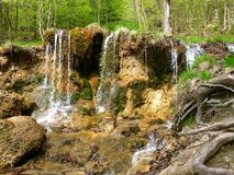 Mostenicke Travertiny , Mostenica , Slovakia. Waterfalls , Nature , Forest Stock Photography
