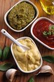 Mosterd en andere sausen Stock Foto