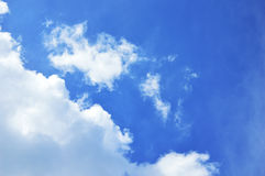 Mostly cloud and blue sky. stock image