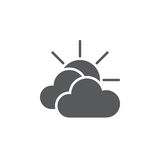 Mostly cloudy weather icon isolated on white background. Vector illustration. Mostly cloudy weather icon isolated on white background. Vector illustration Stock Photos