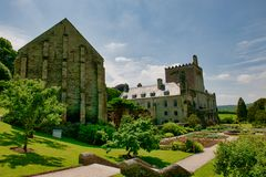Buckland Abbey. Is a 700-year-old house in Buckland Monachorum, near Yelverton, Devon, England, noted for its connection with Sir Richard Grenville the Younger royalty free stock photo