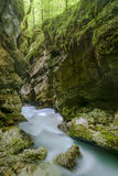Mostnica stream. In Julian Alps Stock Photo