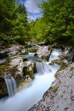 Mostnica stream. In Julian Alps Stock Photos