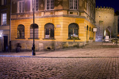 Mostowa Street at Night in Warsaw Royalty Free Stock Photography