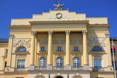 Mostowski pałac w Warszawa - kapitał Polska fotografia stock