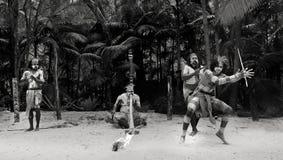 Mostra aborígene da cultura em Queensland Austrália foto de stock royalty free