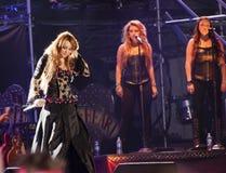 Mostra aciganada do coração de Miley Cyrus em Brasil Fotos de Stock